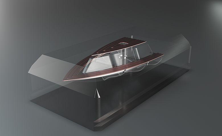 Rohling mit integriertem Hohlraum und eingezogenen Kupferschichten, mit der MPA-Technologie generativ gefertigt