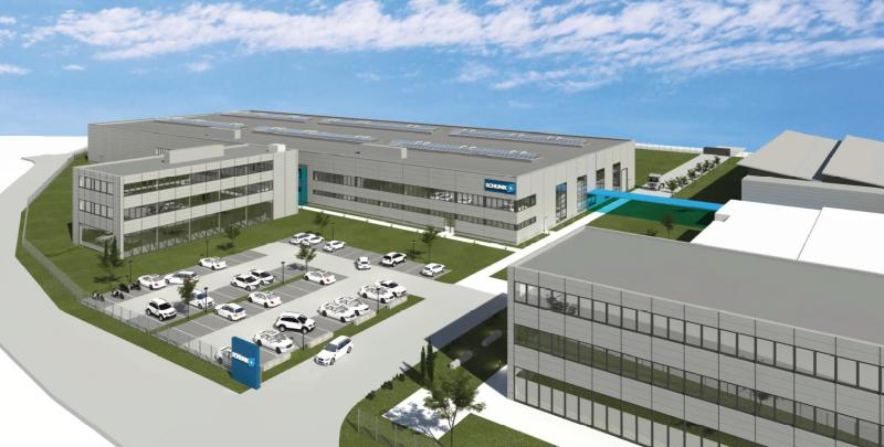 By May 2020, nearly 30 million euros will be invested in the SCHUNK Campus in Mengen. In addition to another production hall, a modern research and development center is being built. Photo: SCHUNK