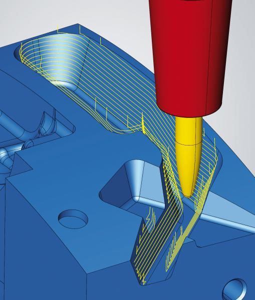 Schräge Wände mit Tonnenfräsern effizient auf 3-Achs-Maschinen bearbeiten
