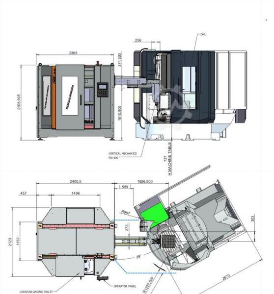 Automatisierung der Anlage mit Paletten möglich.