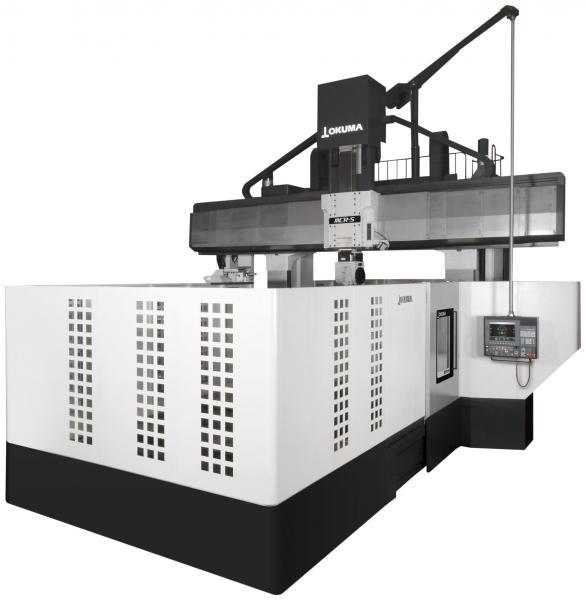 Okuma setzt mit dem 5-Achs-Bearbeitungszentrum MCR-S (Super) Maßstäbe. In Sachen Präzision, Produktivität und Flexibilität eröffnet die neue Portalfräsmaschine Herstellern bislang ungeahnte Möglichkeiten. Die Kombination mehrerer High-End-Funktionen prädestiniert die Werkzeugmaschine für die Bearbeitung von Presswerkzeugen auf höchstem Niveau.