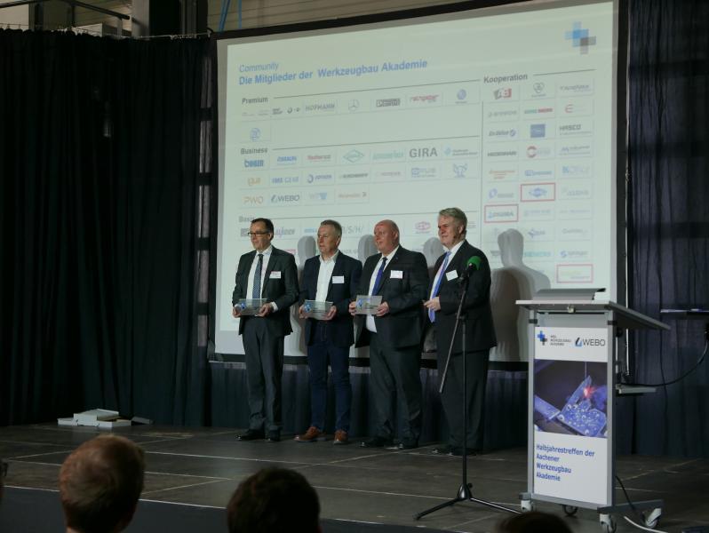 Okuma baut Technologieführerschaft im Werkezeug- und Formenbau aus  Okuma ist seit neuestem Mitglied der WBA (Aachener Werkzeugbau Akademie GmbH) und des VDWF (Verband Deutscher Werkzeug- und Formenbauer e. V.). Die Mitgliedschaften sind Grundlage für zukünftige, noch engere Kooperationen mit Partnern aus Wissenschaft und Forschung.