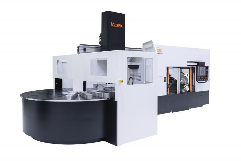 Die Multiplex W-200Y ist mit einem von Mazak Engineering Deutschland entwickelten Rundschalttisch kundenspezifisch ausgerüstet. Dieser bietet eine um 144% gesteigerte Teile-Kapazität im Vergleich zu einem Standard-Speicher.