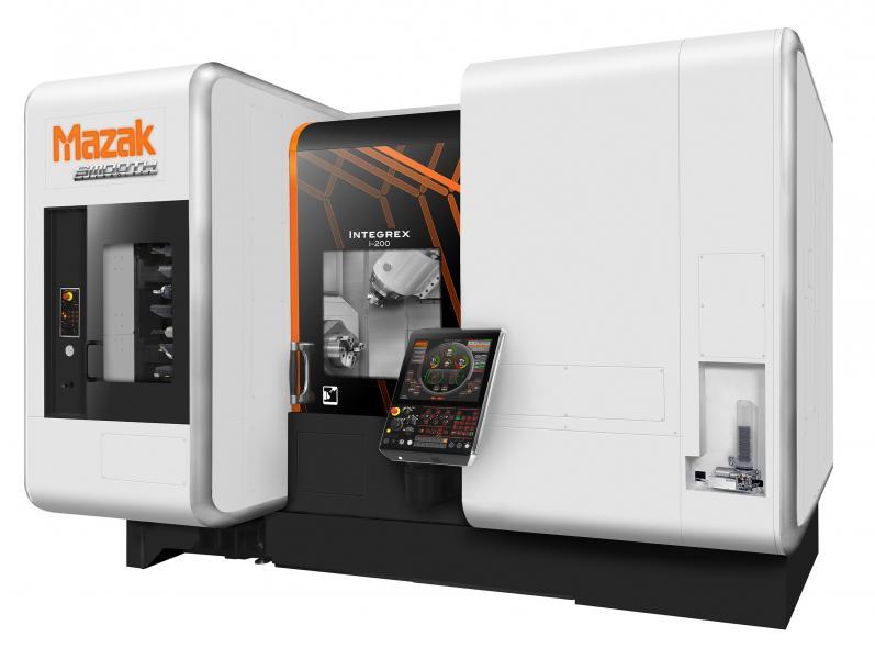 Die innovative Automatisierung der Integrex-i-200 ST ist ein in die Maschine integriertes Paletten- und Werkstück-Handlingsystem.