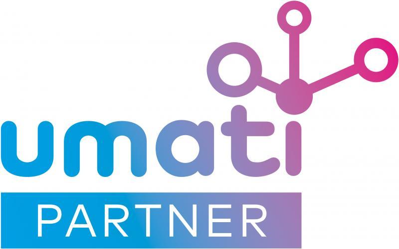 Alle umati-Partner auf der EMO Hannover sind an diesem Logo zu erkennen.