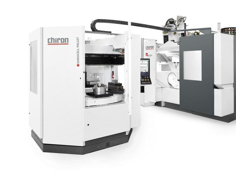 Komplexe Werkstücke autonom bearbeiten - zur EMO kombiniert CHIRON die neue FZ 16 S five axis erstmals mit der Palettenautomation VariocellPallet.