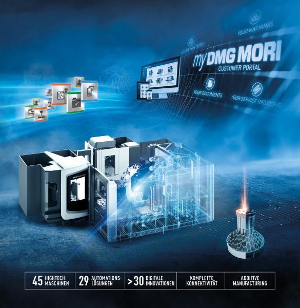 Die digitale Zukunft aktiv gestalten: DMG MORI präsentiert auf der diesjährigen EMO in Hannover Automatisierungs- und Digitalisierungslösungen live in Halle 2.