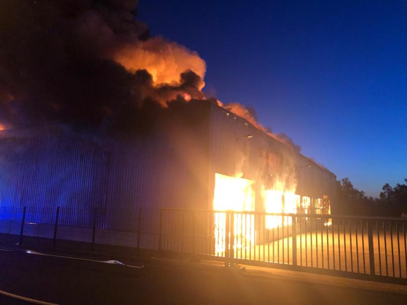 Major fire at TOOL FACTORY