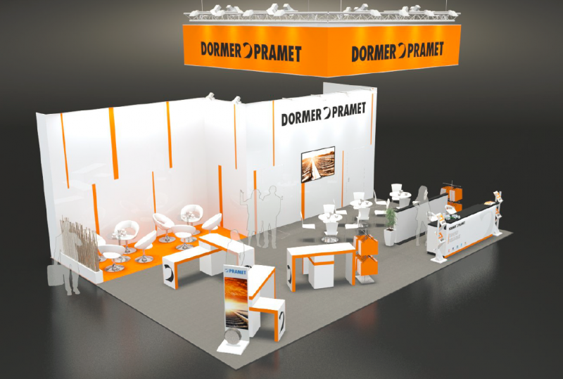 A computer generated image of the Dormer Pramet stand at EMO 2019.