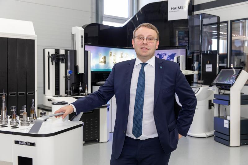 """HAIMER-Geschäftsführer Andreas Haimer freut sich auf die EMO und möchte sich mit dem neuen HAIMER Werkzeugmanagementsystem DAC an eine große Zielgruppe richten: """"Mit dem DAC wollen wir die Digitalisierung im Werkzeugmanagement auch für klein- und mittelständische Unternehmen umsetzbar machen."""""""
