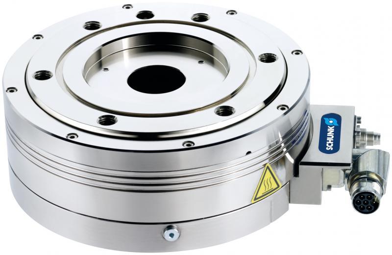 Das mechatronische SCHUNK ERS ermöglicht vielseitige Einsätze auf engstem Raum. Auf Wunsch ist es staub- und spritzwassergeschützt (IP54) sowie mit pneumatisch-elektrischer Drehdurchführung erhältlich.
