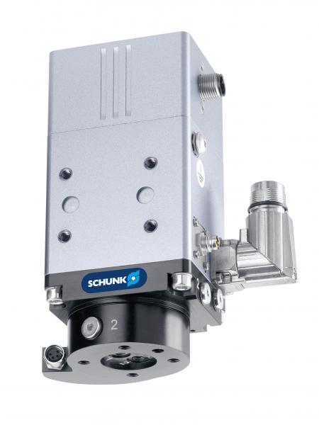As a unique rotary module with torque motor, the SCHUNK ERD is equipped with integrated air feed-through.