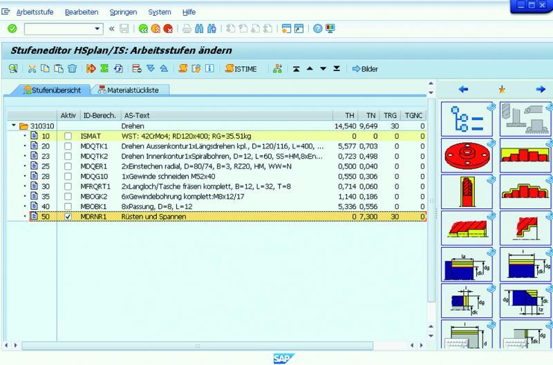 HSi-Arbeitsstufen-Editor vollständig im SAP-System integriert