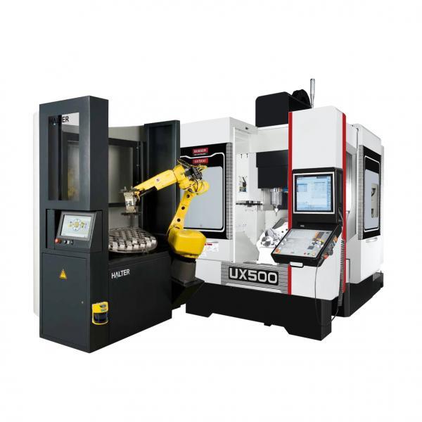 In Zusammenarbeit mit renommierten Automati-onspartnern präsentiert Quaser auf der diesjährigen EMO, neben dem eigenen Automationskonzept, außerdem das vertikale Bearbeitungszentrum UX 500 in zwei Varianten – einmal mit Robo-terautomation…