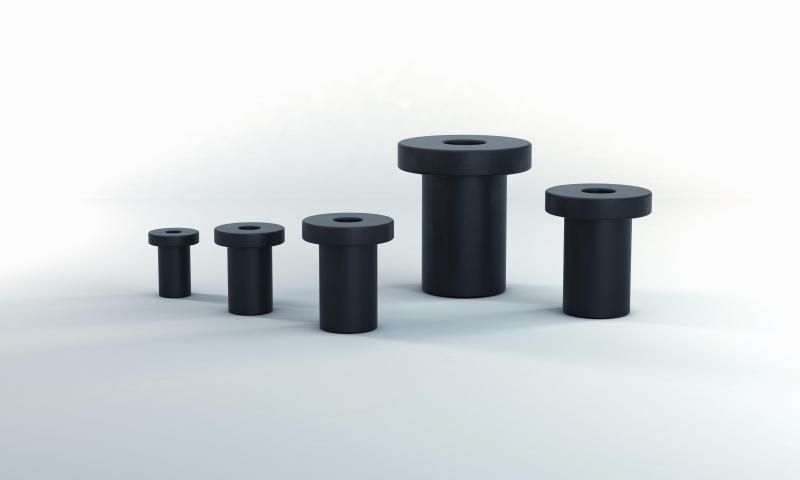 Die Schnellbefestigungselemente namens Flex Locs von ACE sorgen als lösbare Blindnietverbindung auf einfache Weise für Schwingungs- und Schock- sowie für Körperschallisolierung