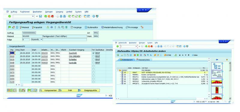 """Der """"rechnende"""" Fertigungsauftrag SAP PP FA vollständig im SAP-System integriert."""