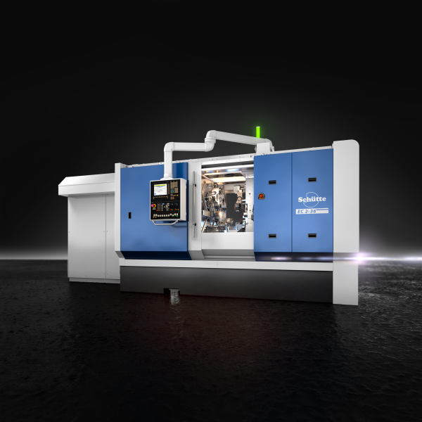 Decreasing batch sizes due to product individualisation and just-in-time production pose new competitive challenges for industrial manufacture. In this regard, with the new ECX series, Schütte provides precisely the right solution: a highly productive new single-spindle automatic for batch sizes below the expedient or economical minimum for multi-spindle automatics. The ECX is perfectly suited to the complete machining of complex workpieces in medium batch sizes and with new materials. It combines the flexibility and simple handling of single-spindle automatics with the productivity of multi-spindle automatics, thus bridging the gap between the two worlds.