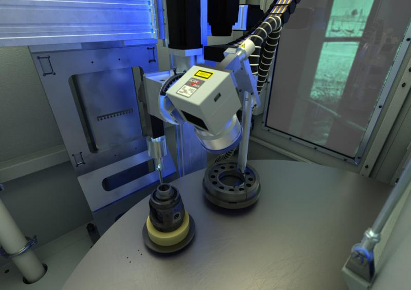 NC-controlled scanner optics: NC-controlled XZB axis system ensures flexibility for wide range of different components.
