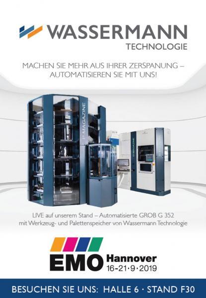 Besuchen Sie uns auf der diesjährigen EMO in Hannover vom 16.-21.09.2019 auf in Halle 6, Stand F30. Wir freuen uns auf Ihren Besuch!