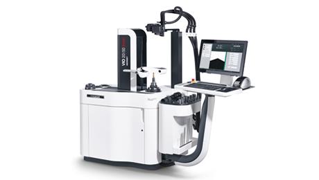 Mit dem Voreinstellgerät HAIMER Microset VIO linear toolshrink lassen sich Werkzeuge μm-genau in der Länge schrumpfen und zugleich vermessen.