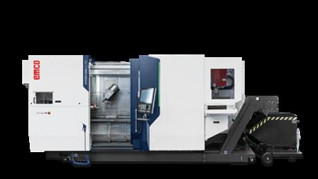 Mit einem Spindelabstand von 1400 mm für hohe Flexibilität, einer maximalen Werkzeuglänge von 350 mm und einem max. Werkzeuggewicht von 12 kg für tiefere Bohrungen und größere Werkzeugköpfe sowie einem programmierbaren Miniportal für die automatische Fertigteilentladung ist die neue Hyperturn 65 Powermill eine überzeugende Fortsetzung der Hyperturn Erfolgsserie.