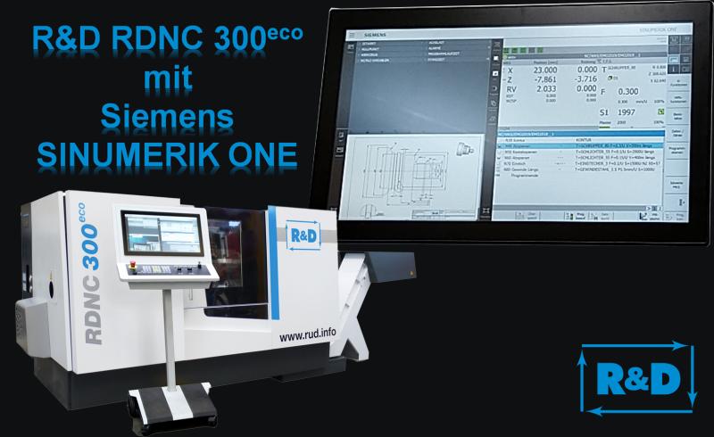 """Auf der diesjährigen EMO in Hannover präsentiert R&D wieder Neuheiten aus den Bereichen """"Maschinenbau"""" und """"Steuerungstechnik"""".  Als Siemens Pilotkunde zeigt R&D die neue Steuerungsgeneration für Werkzeugmaschinen, die SINUMERIK ONE. Die Steuerung wird an der neuen CNC-Drehmaschine RDNC 300eco vorgestellt.  Parallel zur realen Maschine wird der digitale Zwilling erstmals für den Bereich """"Drehen"""" vorgestellt.  Als weiteres Highlight werden die Zyklendrehmaschine KNC plus mit der hauseigenen, anwenderfreundlichen CNC-Steuerung MTC ausgestellt. Die neue Steuerungsgeneration der MTC ist mit einer neuen, leistungsstarken Hardware ausgerüstet und kann mit den aktuellen Siemens Antrieben und Safety Integratet betrieben werden.  Ebenfalls werden die Themen """"Wartung und Instandhaltung von Werkzeugmaschinen"""" und """"Modernisierungen von Werkzeugmaschinen"""" präsentiert.  Sollten Sie noch Eintrittskarten für die Messe benötigen, schreiben Sie eine E-Mail an: EMO2019@rud.info.  Besuchen Sie unseren Messestand D50 in der Halle 17. Wir freuen uns schon jetzt auf interessante Gespräche mit Ihnen."""