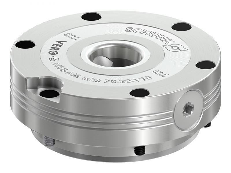 Einen zügigen Wechsel von Substratplatten im 3D-Druck gewährleistet das kompakte Nullpunktspannmodul SCHUNK VERO-S NSE-AM mini. Es lässt sich vollständig in den Maschinentisch integrieren und eignet sich für Betriebstemperaturen bis 200° C.