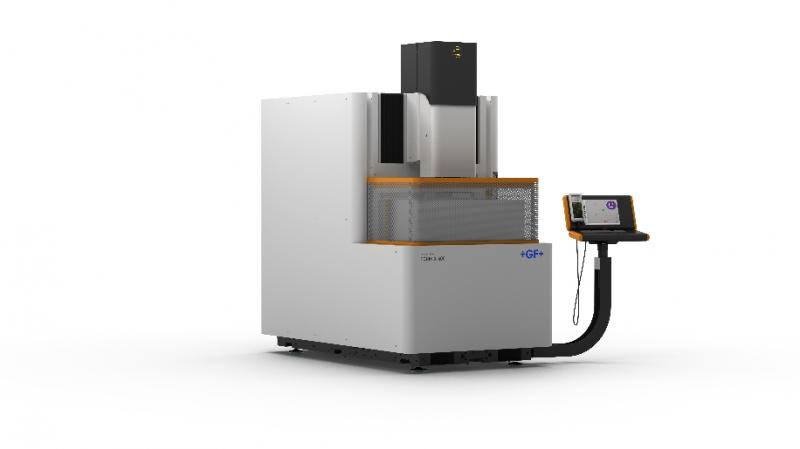 GF Machining Solutions' AgieCharmilles FORM X 400, shown at EMO Hannover 2019, represents a milestone in very high precision die-sinking EDM by minimizing temperature fluctuations to ensure stability and precision.