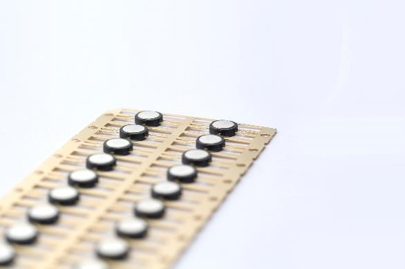 Tooling used in the manufacture of mobile phone camera modules: These miniature modules are machined with unbeatable accuracy―and users achieve greater detail with fewer electrodes, thanks to GF Machining Solutions' AgieCharmilles FORM X 400 die-sinking EDM machine. The FORM X 400 was shown at EMO Hannover 2019 with the System 3R WPT1+ compact part and electrode changing solution.