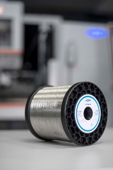 Guests at GF Machining Solutions' EMO Hannover 2019 stand discovered the power of Customer Services' SMART wire equipped with radio frequency identification (RFID) chips. In combination with the GF Division's AgieCharmilles wire-cutting Electrical Discharge Machining (EDM) machines, SMART wire enhances process continuity and traceability while optimizing machine performance.