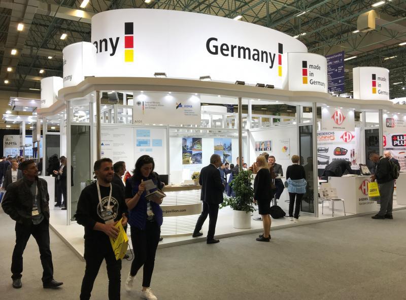 German Pavilion auf der Automechanika Istanbul