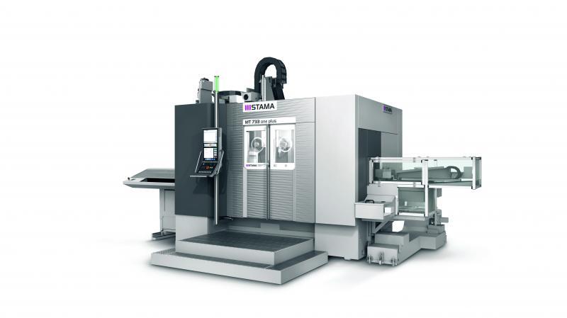 Weltpremiere auf der EMO hat die STAMA MT 733 one plus. Ihre Stärke ist die Komplettbearbeitung komplexer Bauteile und schwer zu zerspanender Werkstoffe.