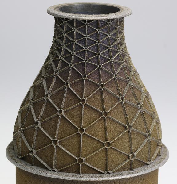 Mit hyperMILL® ADDITIVE Manufacturing gefertigtes Bauteil Aerospace Turbinendüse