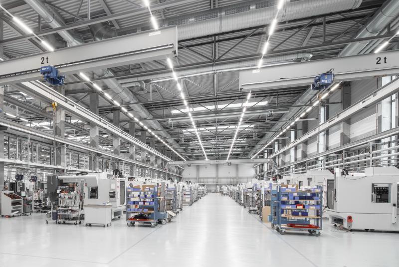 Die CHIRON Precision Factory: Auf 14.000 Quadratmetern bestens gerüstet für die Produktion der neuen Maschinenbaureihen.