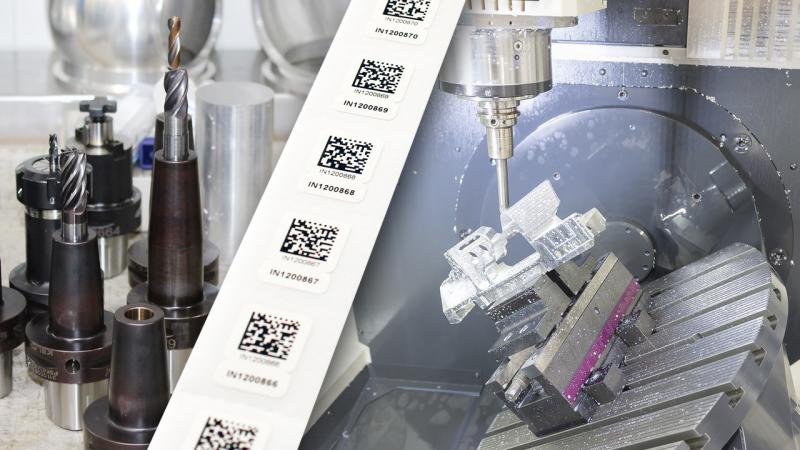Werkzeugidentifikation mit dauerhaften 2D-Barcode Etiketten nachrüsten
