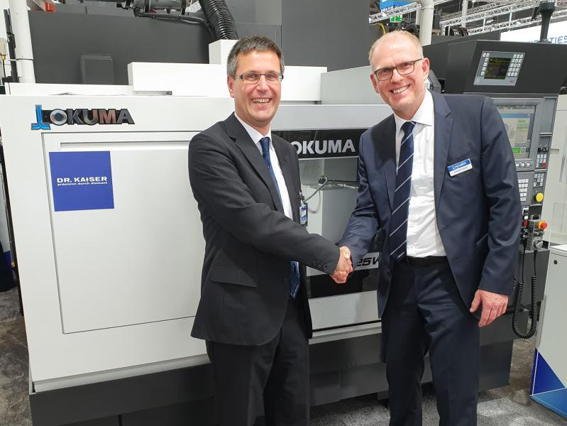 Grinding experts combine expertise  Okuma and German grinding expert Dr. Kaiser Diamantwerkzeuge GmbH & Co KG jointly developed a grinding system that offers cutting-edge dressing functions. This is achieved by an unprecedented symbiosis of the CNC grinding machine, the dressing hardware and the control technology. ...