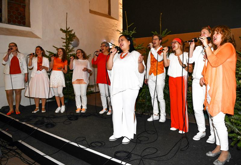 Gospelchor GET UP! zum Weihnachtsessen der Egin-Heinisch in der Brüderkirche Kassel