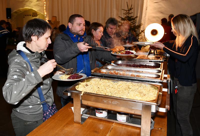 Weihnachtsbuffet in der Brüderkirche