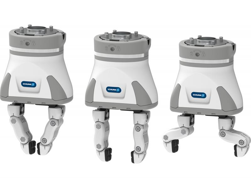 The gripper fingers of the SCHUNK EGH Co-act gripper can be adapted quickly and simply to various workpieces.