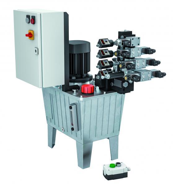Die Hydraulikaggregate für den Industrie 4.0-Einsatz basieren auf dem bewährten ROEMHELD-Modulsystem. Neu ist das eigens entwickelte Condition Monitoring.