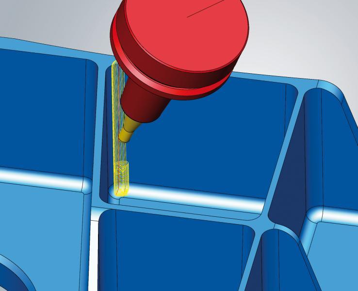 Neue Funktion für eine effiziente 3D- und 5-Achs-Eckenrestmaterialbearbeitung