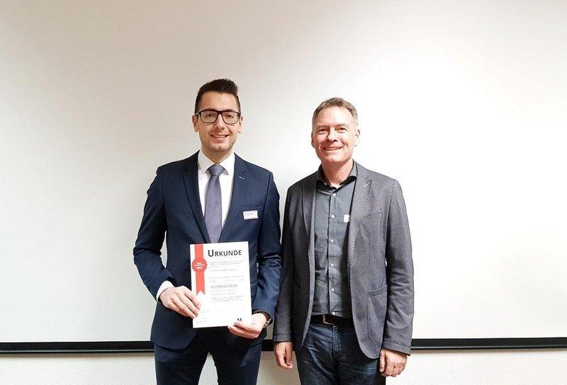 Andreas Baur erhält Deutschlandpreis des Fachbereichstags Maschinenbau