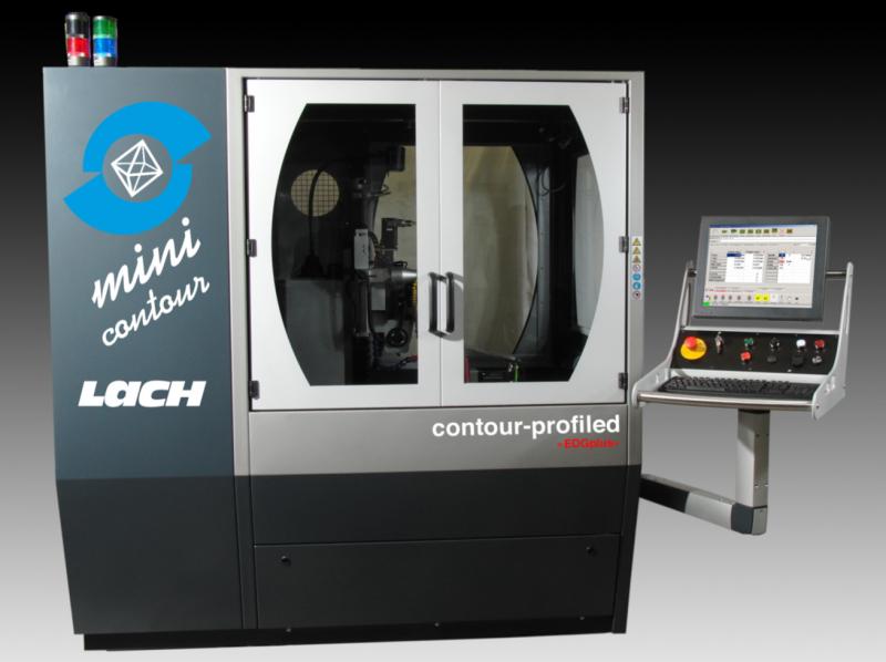 Die »mini contour-profiled« Schärfmaschine für das Profilieren metallgebundener Schleifscheiben in der Serienfertigung