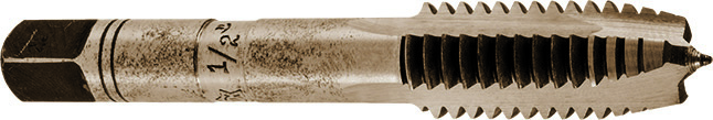 The single-finishing tap with spiral point, which Richard Glimpel developed in 1920, revolutionized machine thread manufacturing with only a third of the production time.