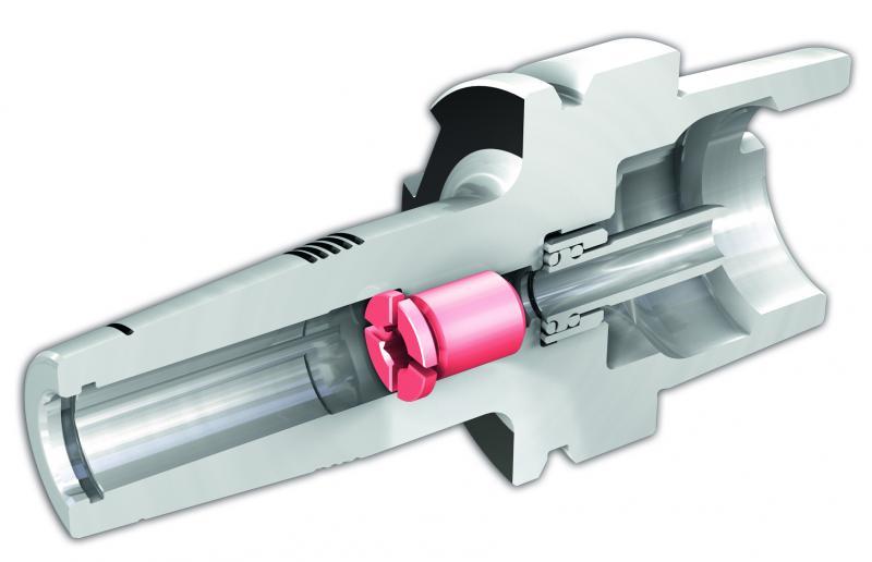 Die Voreinstellschraube CX macht die JET-Kühlung entlang des Werkzeugschafts erst möglich. Sie darf nicht entfernt werden.