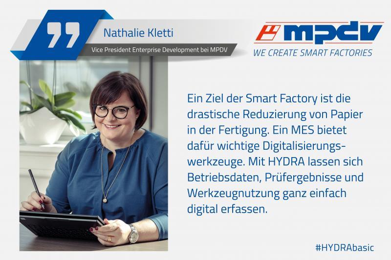 Expertenstatement von Nathalie Kletti, Vice President Enterprise Development bei MPDV