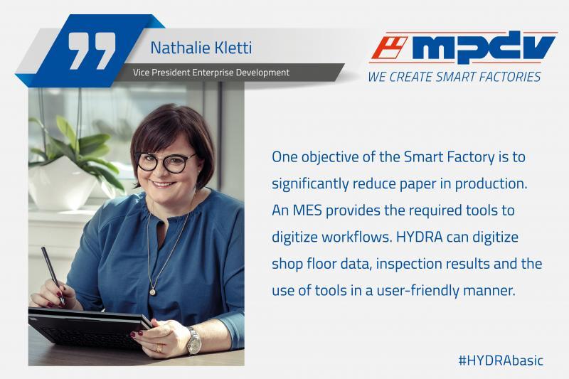 Expert statement of Nathalie Kletti, Vice President Enterprise Development at MPDV