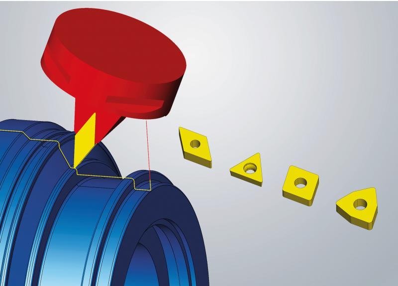Neue Schneidplattentypen für das 3-Achs-Simultandrehen verfügbar