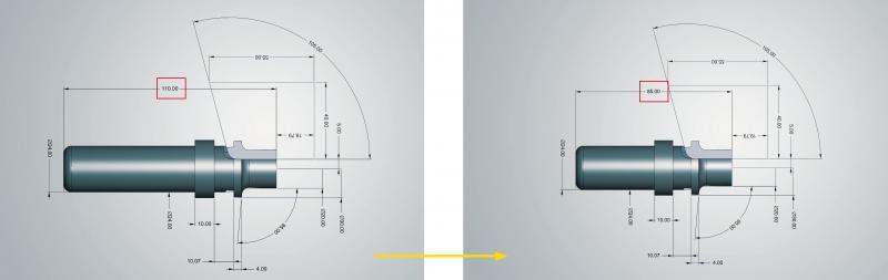 Parametrisch konstruieren in hyperCAD®-S: verschiedene Varianten mit unterschiedlichen Größen schnell aus einem Ausgangsmodell erstellen