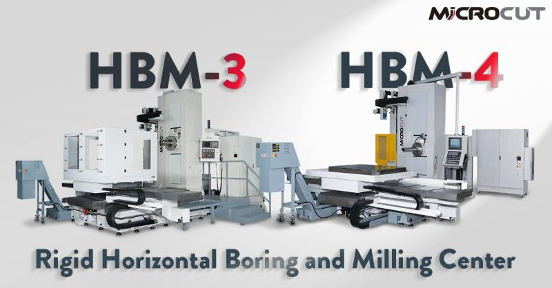 MICROCUT HBM Table Type Rigid Horizontal Boring and Milling Center